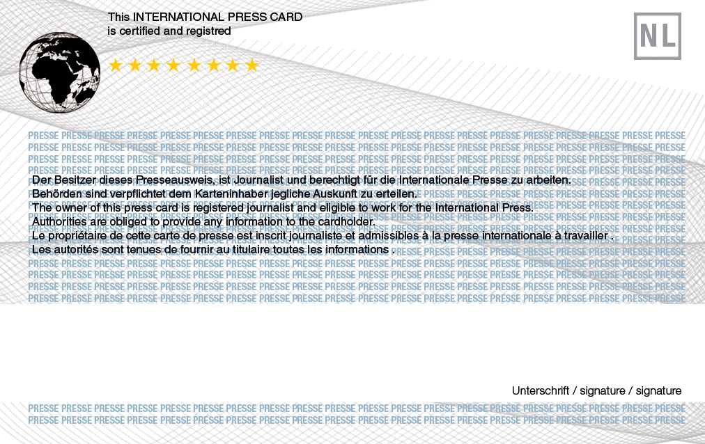 – Presscard-application 2019 com Card Press International