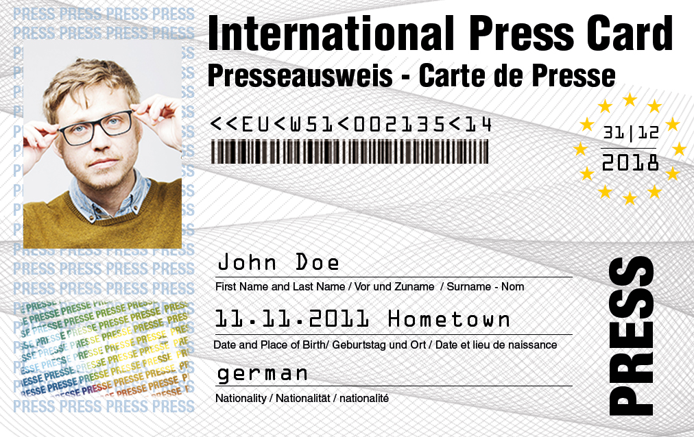 Presscard apllicaion - for professional journalists